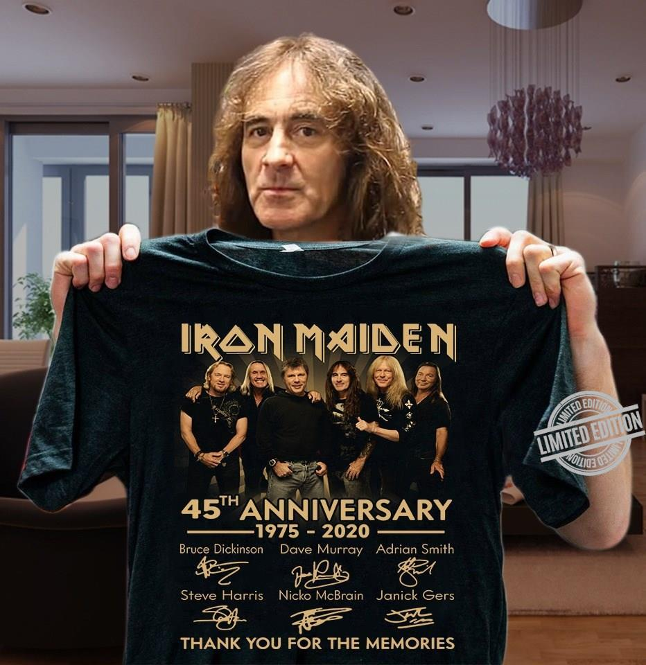 Iron Maiden 45th Anniversary 1975-2020 Thank You For The Memories Shirt